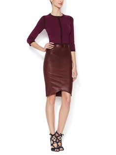 Leather Pencil Skirt by Narciso Rodriguez at Gilt