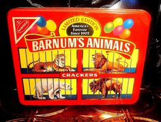 Nabisco Vintage Barnum's Animals Cracker's 1989 Limited Edition Storage Tin…