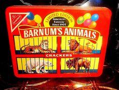 Nabisco Vintage Barnum's Animals Cracker's 1989 Limited Edition Storage Tin…