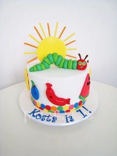 FrostedIndulgence's hungry caterpillar cake
