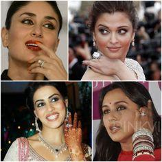 #Bollywood celebrity #EngagementRing-s:  From Aishwarya Rai Bachchan to Kareena Kapoor Khan, these ladies' have engagement rings to die for... #IndianWedding, Bollywood Fashion @pinkvilla via @sunjayjk