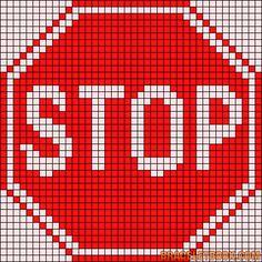 véhicule - transport - stop - point de croix - cross stitch - Blog : http://broderiemimie44.canalblog.com/