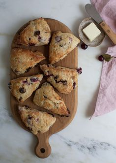 Sour Cherry Chocolate Scones recipe from PBS Food