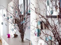 DIY Paper eggs for easter decoration