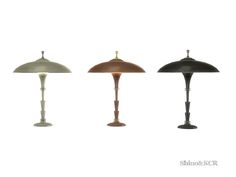 unique Desklamp, hammered metal on the Shade,  Found in TSR Category 'Sims 4 Table Lamps'