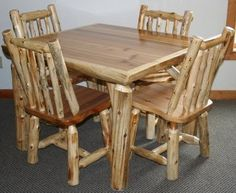 The hot items this year so far have been our log table and chair sets which have been especially popular with the resorts who were looking...