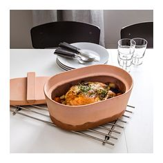 Cook a complete meal. From rice and chicken to veggies and steak. Save water, save time and save energy with this one pot, clay pot. ANVÄNDBAR Clay pot  - IKEA