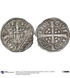 Irland: Edward I. Münze Edward I. (1272-1307), König von England, Königtum, Münzherr 1279-1284 Land: Irland (Land) Münzstätte/Ausgabeort: Waterford Nominal: Sterling, Material: Silber, Druckverfahren: geprägt Gewicht: 1,32 g Durchmesser: 20 mm