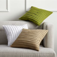 """fold white 16"""" pillow with down-alternative insert in pillows 