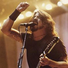 Dave Grohl has a great voice and I love the way he sings his heart out.
