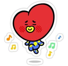 BTS stickers featuring millions of original designs created by independent artists. Printable Stickers, Cute Stickers, Bts Make It Right, Kpop Diy, Tumblr Stickers, Bts Chibi, Line Friends, Aesthetic Stickers, Transparent Stickers