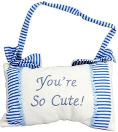 wholesaleYou're So Cute! Hanging Decorative Blue Pillow (Case of 12)