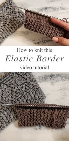 This interesting and very effective knit elastic border comes with breaded eye spokes! This stitch makes a beautiful knitting tight pattern! HOW TO MAKE THIS KNIT ELASTIC BORDER? To make this knit ela Knitting Paterns, Knitting Designs, Crochet Patterns, Knitting Needles, Knitting Projects, Love Knitting Patterns, Diy Crafts Knitting, Knitting Help, Easy Knitting