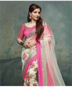 Chiffon Saree with Blouse | I found an amazing deal at fashionandyou.com and I bet you'll love it too. 1500/-