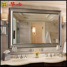 212 Best Mirrors Images Wood Framed Mirror Bathroom House