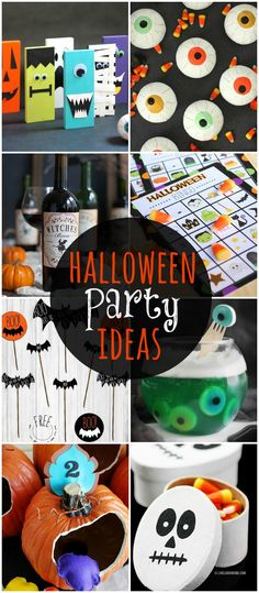 A MUST SEE roundup of food, decor, and game ideas for your Halloween party this year!! { lilluna.com }