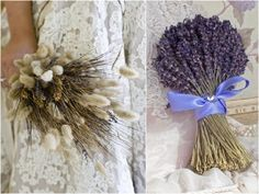 wheat and lavender...would be so cute as a center piece!
