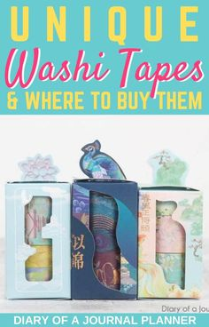 Makeyour bullet journal look incredible with these unique washi tapes plus where to buy them! #washitape #washi #stationery #bulletjournalsupplies #washitapebuy Washi Tape Storage, Washi Tape Wall, Washi Tape Crafts, Bullet Journal Washi Tape, Bullet Journal Printables, Washi Tape Planner, Stationery, Doodles, The Incredibles