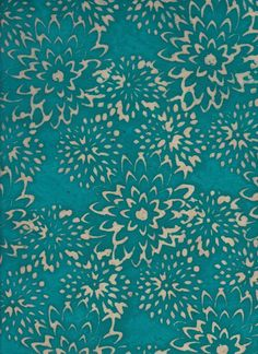 This pattern uses the Balik technique, which creates a very cool color scheme with teal and contrasting light sections. It uses the resist wax to create the spotted sections. Line Patterns, Pretty Patterns, Textile Patterns, Textile Design, Textiles, Shibori Fabric, Batik Art, Illustrations, Surface Pattern Design