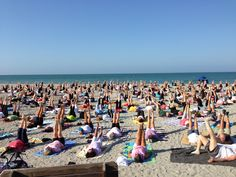 yoga on venice beach, every morning