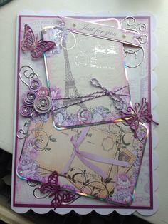 Kanban Card Making Inspiration, Making Ideas, Kanban Cards, Birthday Cards, Happy Birthday, Pink Cards, Card Designs, Vintage Cards, Scrapbooking Ideas