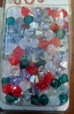 Swarovski Crystal Bicones Assorted Christmas Mix 36 Pcs of Beads 5328 by Gstrands on Etsy Christmas Mix, Swarovski Crystal Beads, Etsy