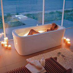 Find us on:  www.lazienkizpomyslem.pl & www.facebook.com/lazienkizpomyslem relaks w wannie, świece, łazienka, relax, bathtub, wanna czy prysznic? Bath or shower? łazienka, kąpiel, aranżacja, pomysł, dekoracja, relaks, pomysł na łazienkę, dobry design, nowości w designie, bath, bathroom, bath, interior, idea, decoration, relaxation, the idea for the bathroom, good design, novelty in design