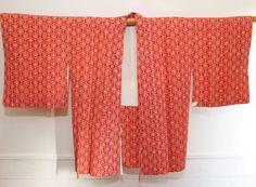 Geometric+Pink+Floral+Japanese+Vintage+Kimono+Jacket+by+CJSTonbo