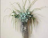 Blue Beach Hydrangea Floral Arrangement
