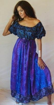 I found 'BLUE PURPLE DRESS MAXI PEASANT GYPSY BOHO INSET - FITS (ONE SIZE) - M L XL 1X 2X - Y856S LOTUSTRADERS' on Wish, check it out!
