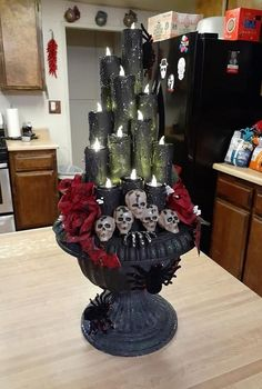 Get inspiration for your Halloween party with these cheap & easy DIY indoor Halloween decoration ideas. Start your haunted farmhouse decoration with the Dollar store items to make spider web, bats, skull vase, spooky pumpkin, Halloween tree, scary Halloween lighting and Boo Halloween signs. Mantle decoration with DIY Halloween projects using mason jar and wine bottles for the perfect Halloween home decor. #halloweendecor #diydecor #indoordecor Scary Halloween Decorations, Theme Halloween, Halloween Trees, Holidays Halloween, Halloween Diy, Halloween Nails, Halloween Costumes, Halloween Recipe, Women Halloween
