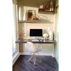 Den with a Glow - My cute little #Riva display perfectly lit up in the afternoon sun - No room a little custom millwork paired with white and gold accessories can't make look #happy and inviting - #GoldEames #westelm #indigoaccessories #designcandy
