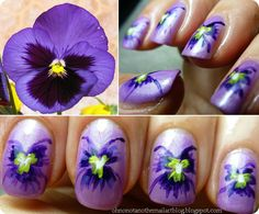 Oh No, Not Another Nail Art Blog!...: BirthFlowers Challenge #2 February- VIOLET