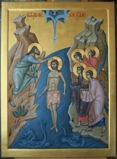 Theophany (Baptism of Jesus Christ) Whispers of an Immortalist: Ministry of… Byzantine Icons, Byzantine Art, Baptism Of Christ, Jesus Christ, Religious Icons, Religious Art, Roman Church, Jesus Art, Orthodox Icons