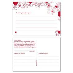 50 Flugkarten für Ballonwettfliegen zur Hochzeit, rot - Für einen schönen Ballonstart zur Hochzeitsfeier!: Amazon.de: Küche & Haushalt