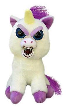 Stuffed Toy Plush Unicorn Glenda Glitterpoop Scary Teeth Feisty Pet Squeeze New
