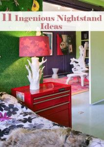 Fabulous Home Ideas – 11 Ingenious Nightstand Ideas Furniture Makeover, Diy Furniture, Repurposed Furniture, Painted Furniture, Home Bedroom, Bedroom Decor, Bedrooms, Bedroom Office, Home Renovation