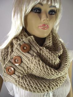 KNITTING PATTERN Big Scarf Cowl LouLou Scarf door LiliaCraftParty