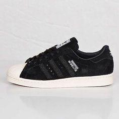the latest 5e2fd 024d6 Adidas NH Neighborhood Shelltoe Mens M25785 Black White Shoes Sneakers Size  9.5