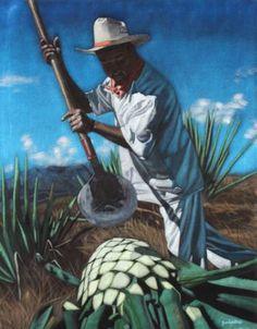 "Saatchi Art Artist Diane Shilkitus; Painting, ""El Jimador Numero Dos Black Velvet Painting"" #art"