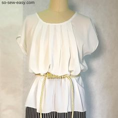 free pattern - the everywhere pleated blouse