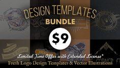Logo Design Template, Templates, Logos, Illustration, Stencils, Logo, Illustrations, Template, A Logo