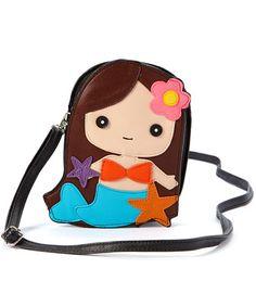 This Brunette Mermaid Girl Crossbody Bag is perfect! #zulilyfinds