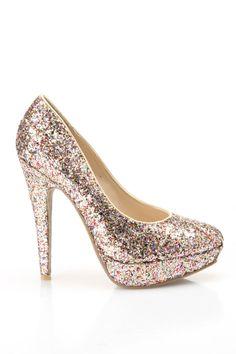 Confetti Glitter Pumps / Wild Diva $15