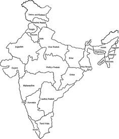 India Map Coloring Page Christa S Dream Bibles 4 India