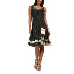 Fjord Dress | Black-Green by Ian Mosh on Brands Exclusive