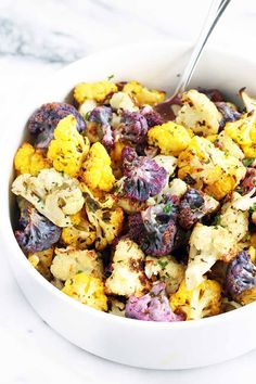This simple side dish bursts with citrusy flavor, made with lemon and fresh herbs, and the brightly colored cauliflower absolutely pops on the plate. Want to learn how to make it? Visit Foodal now for the recipe.
