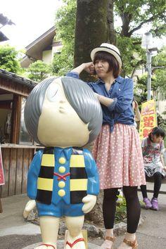 Kitaro and Rin-chan. @Jindaiji