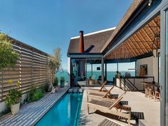 ZA Silver Bay: On the West Coast of South Africa, this is a contemporary interpretation of vernacular architecture. Jacuzzi, Future House, My House, Silver Bay, Landscape Concept, Vernacular Architecture, Cape Town South Africa, Micro House, Stunning View