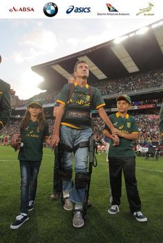 Joost van der Westhuizen walks out at Ellis Park during half-time of the match between the Springboks and the All Blacks